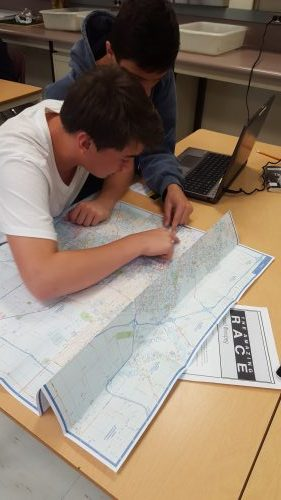Learning maps with Google maps and Amazing Race
